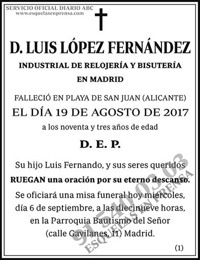Luis López Fernández